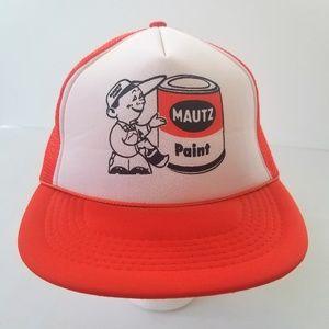 Mautz Paint Vintage Logo Mesh Snapback Trucker Hat
